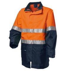 WS Workwear Hi-Vis 4-in-1 Waterproof Jacket - Orange / Navy