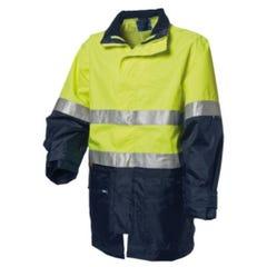WS Workwear Hi-Vis 4-in-1 Waterproof Jacket - Lime / Navy