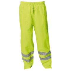 WS Workwear Hi-Vis Waterproof Trousers with Reflective Tape - Yellow