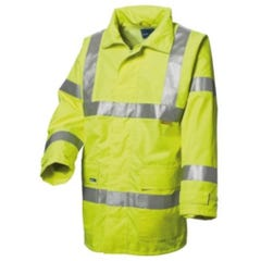 WS Workwear Hi-Vis Chicago Waterproof Jacket with H-Reflective Tape - Yellow