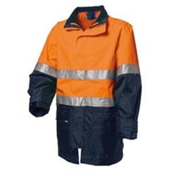 WS Workwear Hi-Vis Waterproof 6-in-1 Jacket with Reflective Tape - Orange / Navy