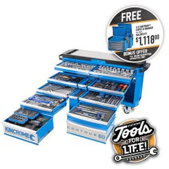 """Kincrome CONTOUR Tool Trolley 403 Piece 12 Drawer Extra-Wide 1/4, 3/8 & 1/2"""" Drive"""
