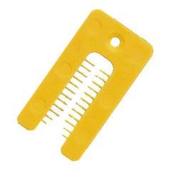 Nupla Horseshoe Packer 50mm x 38mm x 1mm Yellow