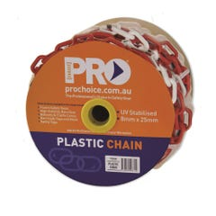 Pro Choice 8mm Red/White Chain, 25m