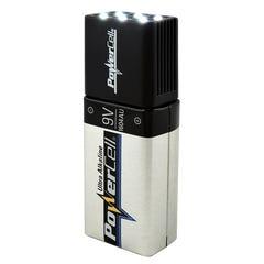 Powercell Blocklite 9V LED Torch Inc 1x PC1604AU