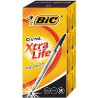 Pen Ballpoint Med Blkbic Crysta (Qty x 50)