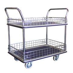 Richmond Wheel & Castor Double Deck 910 x 610mm Caged Platform Trolley
