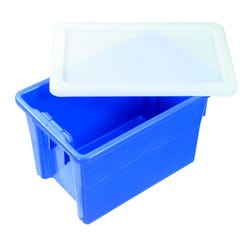 Plasdene Glass-Pak Solent Plastics Euronorm ECO Recycled Stacking Container Black 68L