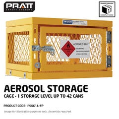 Pratt Aerosol Storage Cage. 1 Storage Level Up To 42 Cans. (Comes Flat Packed Assembly Required)