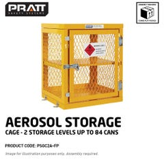 Pratt Aerosol Storage Cage. 2 Storage Level Up To 84 Cans. (Comes Flat Packed Assembly Required)