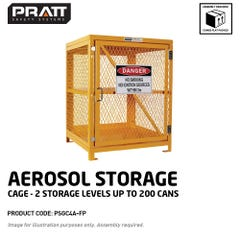 Pratt Aerosol Storage Cage. 2 Storage Levels Up To 200 Cans. (Comes Flat Packed Assembly Required)