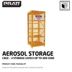 Pratt Aerosol Storage Cage. 4 Storage Levels Up To 400 Cans. (Comes Flat Packed - Assembly Required)