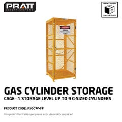 Pratt Gas Cylinder Storage Cage. 1 Storage Level Up To 9 G-Sized Cylinders. (Comes Flat Packed - Assembly Required)