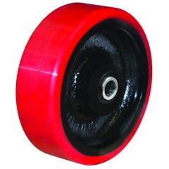 Richmond 400mm Polyurethane Tyred Cast Iron Centred Wheel 40mm Axle Diameter