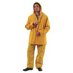 Pro Choice Yellow 3/4 Length PVC Rain Jacket
