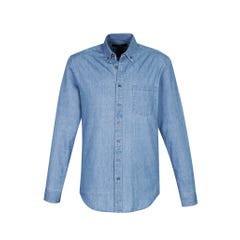 Biz Collection Indie Mens Long Sleeve Shirt - Blue
