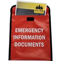 Spill Crew Document Storage Pouch Emergency Information Documents