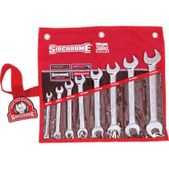 Sidchrome 8 Piece Open End Spanner Set, Metric