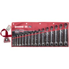 Sidchrome 16 Piece 467 Pro Series Geared Spanners Set, Metric