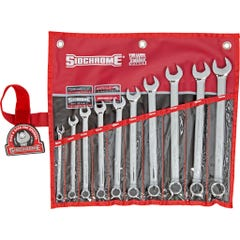 Sidchrome 10 Piece Ring & Open End Spanner Set, Metric