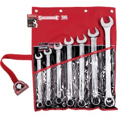 Sidchrome 7 Piece Ring & Open End Spanner Set, Metric