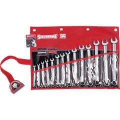 Sidchrome 14 Piece Ring & Open End Spanner Set, Metric