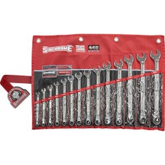 Sidchrome 14 Piece 440 Pro Series Ring & Open End Spanner Set, Metric