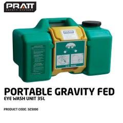 Pratt Portable Gravity Fed Eye Wash Unit. 35L