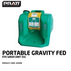 Pratt Portable Gravity Fed Eye Wash Unit. 55L