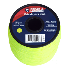 Spear & Jackson Brickline 12 Strand Nylon Lime Green 500m