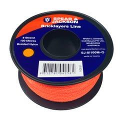 Spear & Jackson Brickline 8 Strand Nylon Orange 100m