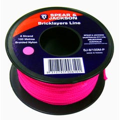 Spear & Jackson Brickline 8 Strand Nylon Pink 100m