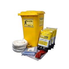 Spill Crew Spill Kit – Oil And Fuel 240l Wheelie Bin Economy