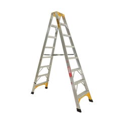 Gorilla double-sided a-Frame Ladder 2.4m (6ft) Aluminium  150kg Industrial