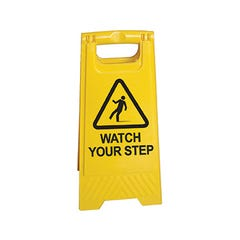 Spill Crew A-frame floor sign Watch Your Step