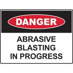 Spill Crew Danger Abrasive Blasting In Progress