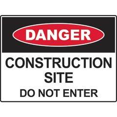 Spill Crew Danger Construction Site Do Not Enter