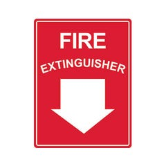 Spill Crew Fire Extinguisher With Arrow