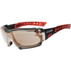 Scope Optics Speed Pro Red/Black Frame Safety Glasses