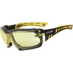 Scope Optics Speed Pro Yellow/Black Frame Safety Glasses