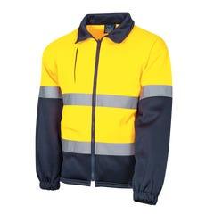 Tru Workwear Full Zip Water Repellent Fleece Jacket - Yellow / Navy