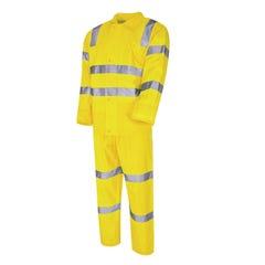 Tru Workwear VIC Rail Compliant - Rain Set In Bag - Yellow