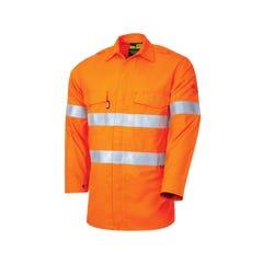 Tru Workwear Flame Retardant Shirt HRC2 With Loxy FR Tape - Orange