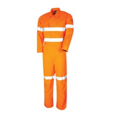 Tru Workwear Flame Retardant Coverall HRC2 With FR Tape - Yellow / Navy