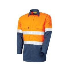 Tru Workwear Flame Retardant Lightweight Shirt HRC1 With Loxy FR Tape - Orange / Navy