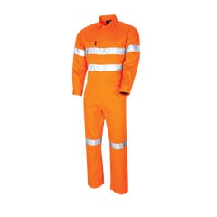 Tru Workwear Lightweight Coveralls With 3M Tape - Orange