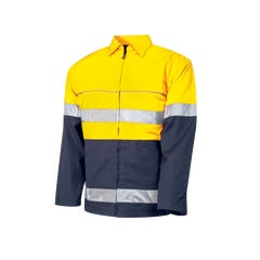 Tru Workwear Cotton Canvas Drill Jacket With 3M Tape - Yellow / Navy