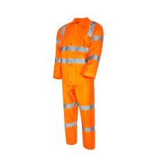 Tru Workwear Rain Set In Bag Biomotion Tape Configuration – Class D/n - Orange