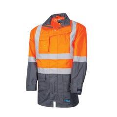 Tru Workwear Rain Jacket With Tru Tape - Orange / Navy