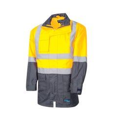 Tru Workwear Rain Jacket With Tru Tape - Yellow / Navy